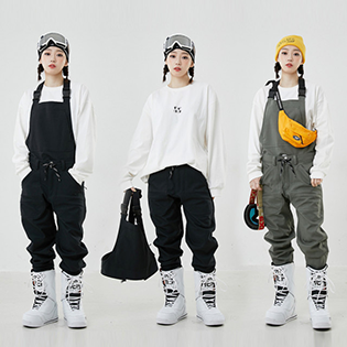 2021 INSTAY COMPOUND PANTS OVERAL 인스테이 컴파운드 멜빵 보드복팬츠